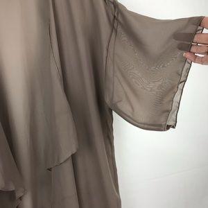 LuLaRoe Swim - LuLaRoe Beige/Black Fringed Swimsuit Cover Size L